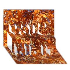 Orange Leaves You Did It 3d Greeting Card (7x5)