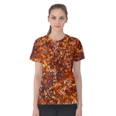 ORANGE LEAVES Women s Cotton Tee