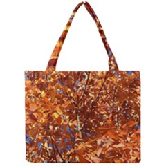 ORANGE LEAVES Tiny Tote Bags