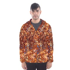 ORANGE LEAVES Hooded Wind Breaker (Men)