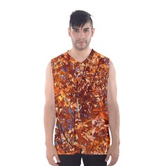 ORANGE LEAVES Men s Basketball Tank Top