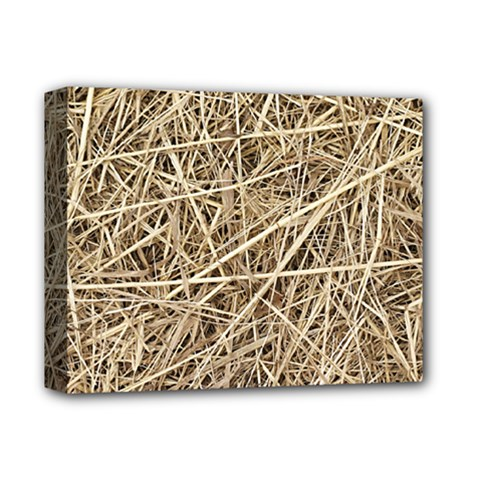 LIGHT COLORED STRAW Deluxe Canvas 14  x 11