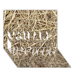 LIGHT COLORED STRAW YOU ARE INVITED 3D Greeting Card (7x5)