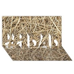 Light Colored Straw #1 Dad 3d Greeting Card (8x4)