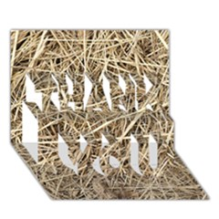 LIGHT COLORED STRAW THANK YOU 3D Greeting Card (7x5)