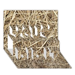 Light Colored Straw You Did It 3d Greeting Card (7x5)