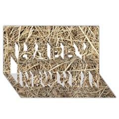 Light Colored Straw Happy New Year 3d Greeting Card (8x4)