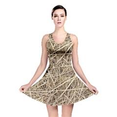 LIGHT COLORED STRAW Reversible Skater Dresses