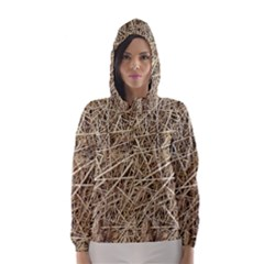 LIGHT COLORED STRAW Hooded Wind Breaker (Women)