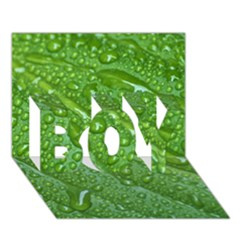 GREEN LEAF DROPS BOY 3D Greeting Card (7x5)