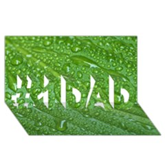 Green Leaf Drops #1 Dad 3d Greeting Card (8x4)