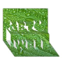 GREEN LEAF DROPS Get Well 3D Greeting Card (7x5)