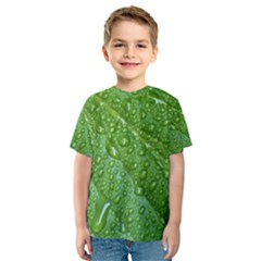 GREEN LEAF DROPS Kid s Sport Mesh Tees