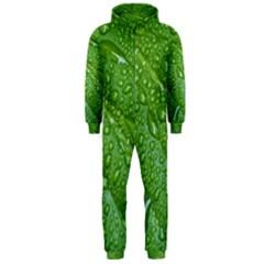 GREEN LEAF DROPS Hooded Jumpsuit (Men)