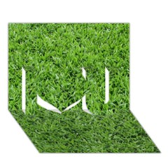 Green Grass 2 I Love You 3d Greeting Card (7x5)