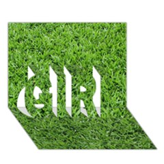 Green Grass 2 Girl 3d Greeting Card (7x5)