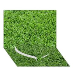 GREEN GRASS 2 Heart Bottom 3D Greeting Card (7x5)