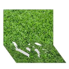 Green Grass 2 Love Bottom 3d Greeting Card (7x5)