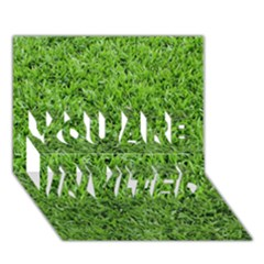 GREEN GRASS 2 YOU ARE INVITED 3D Greeting Card (7x5)