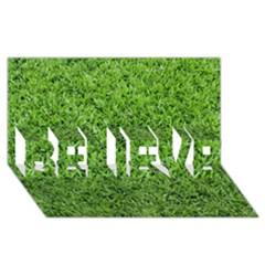GREEN GRASS 2 BELIEVE 3D Greeting Card (8x4)