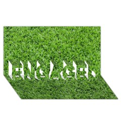 Green Grass 2 Engaged 3d Greeting Card (8x4)