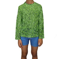 GREEN GRASS 2 Kid s Long Sleeve Swimwear