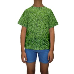 GREEN GRASS 2 Kid s Short Sleeve Swimwear
