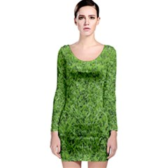 GREEN GRASS 2 Long Sleeve Bodycon Dresses