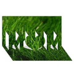 Green Grass 1 Mom 3d Greeting Card (8x4)