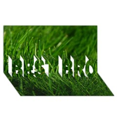 Green Grass 1 Best Bro 3d Greeting Card (8x4)