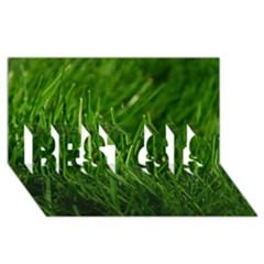 Green Grass 1 Best Sis 3d Greeting Card (8x4)