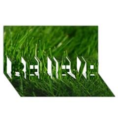 GREEN GRASS 1 BELIEVE 3D Greeting Card (8x4)