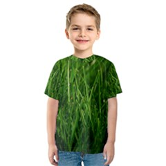 Green Grass 1 Kid s Sport Mesh Tees