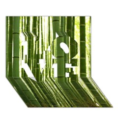 Bamboo Grove 2 Love 3d Greeting Card (7x5)