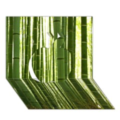 Bamboo Grove 2 Apple 3d Greeting Card (7x5)