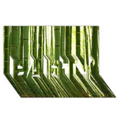 Bamboo Grove 2 Party 3d Greeting Card (8x4)