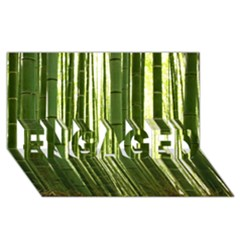 Bamboo Grove 2 Engaged 3d Greeting Card (8x4)
