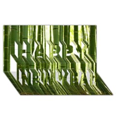 BAMBOO GROVE 2 Happy New Year 3D Greeting Card (8x4)