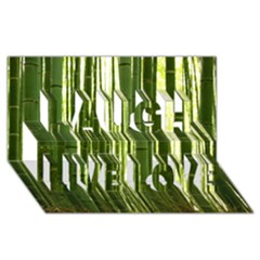 BAMBOO GROVE 2 Laugh Live Love 3D Greeting Card (8x4)