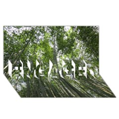 Bamboo Grove 1 Engaged 3d Greeting Card (8x4)