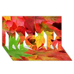 AUTUMN LEAVES 1 MOM 3D Greeting Card (8x4)