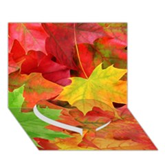 AUTUMN LEAVES 1 Heart Bottom 3D Greeting Card (7x5)