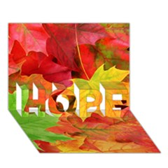 Autumn Leaves 1 Hope 3d Greeting Card (7x5)