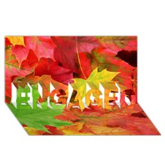 Autumn Leaves 1 Engaged 3d Greeting Card (8x4)