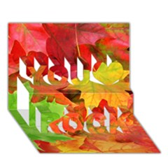 Autumn Leaves 1 You Rock 3d Greeting Card (7x5)