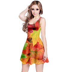 AUTUMN LEAVES 1 Reversible Sleeveless Dresses