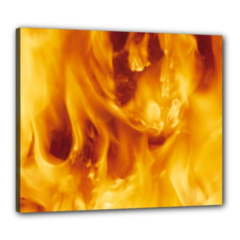 YELLOW FLAMES Canvas 24  x 20