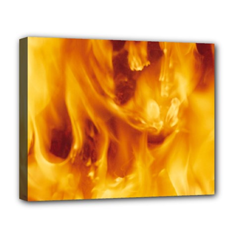 YELLOW FLAMES Deluxe Canvas 20  x 16