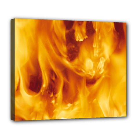 YELLOW FLAMES Deluxe Canvas 24  x 20