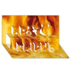 Yellow Flames Best Friends 3d Greeting Card (8x4)